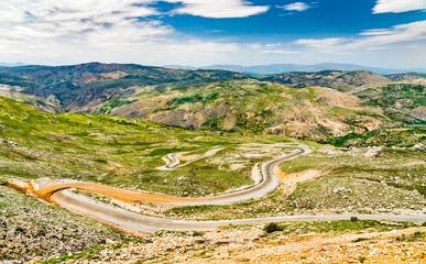 Road to Nemrut Dagi in the mountains of Turkey