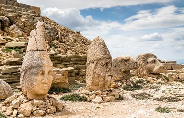 Colossal statues at Nemrut Dagi in Turkey
