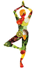 Gesunde Ernährung Collage
