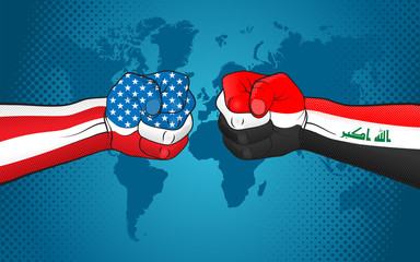 USA-Iraq relations. USA versus Iraq