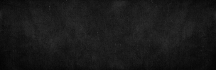 Blank wide screen Real chalkboard background texture in college concept for back to school...