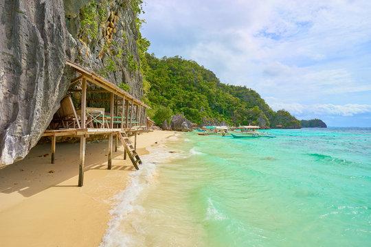 Idyllic Banul Beach on Coron Island -  Palawan, Philippines
