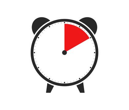 10 Sekunden, 10 Minuten oder 2 Stunden - Wecker Icon