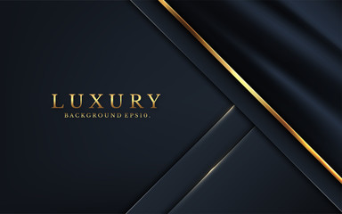 Modern luxury background carbon 3d VIP vector overlap layer on dark and shadow black space with abstract style for design. graphic resource illustration Texture with line golden Sparkles glitters dot