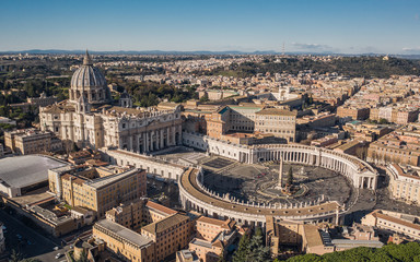 St. Peter's Basilica and St. Peter's Square Fotomurales