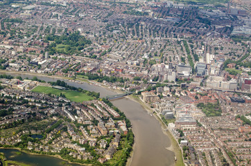 River Thames at Hammersmith, Aerial View