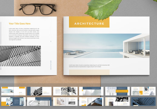Architecture Layout with Yellow Accents