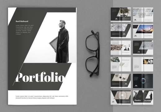 Portfolio Layout with Gray Accents