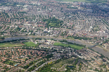 River Thames at Barnes - Aerial View, London