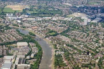 River Thames at Kew - aerial view