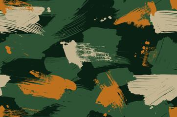 Fototapeta Brush stroke camouflage repeat pattern