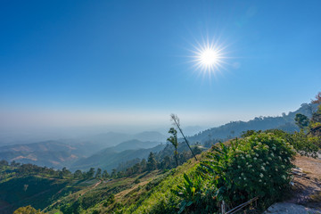 Doi Samurdow viewpoint is on the high mountain in Nan province north of Thailand.