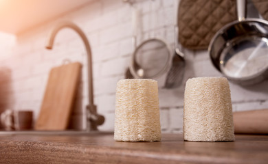 Bamboo natural eco washcloths. Zero waste