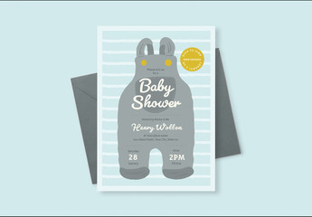 Baby Shower Invitation Layout