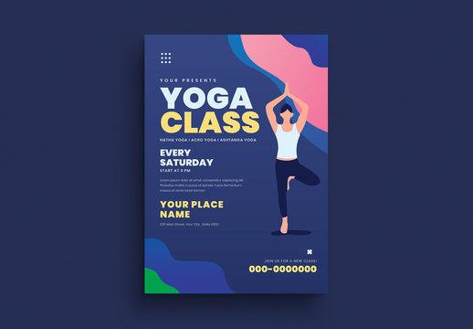 Yoga Class Flyer Layout