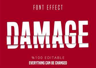 Damage text, editable font effect Wall mural