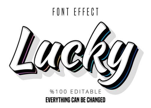 Youth style editable font effect
