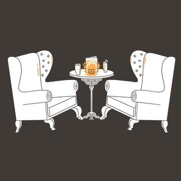 Pub armchairs