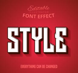 Fototapeta Style text, editable text effect obraz