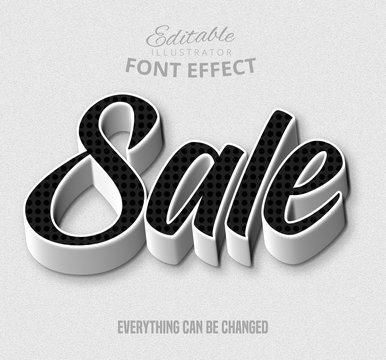 Sale text, editable font effect