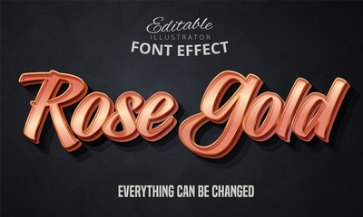 Obraz Rose gold text, editable font effect - fototapety do salonu