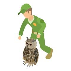 Fototapeta Ornithology icon. Isometric illustration of ornithology vector icon for web obraz