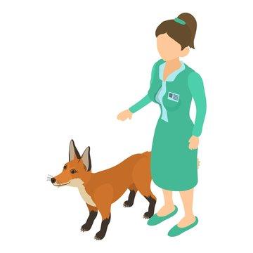 Treatment animal icon. Isometric style illustration of treatment animal vector icon for web