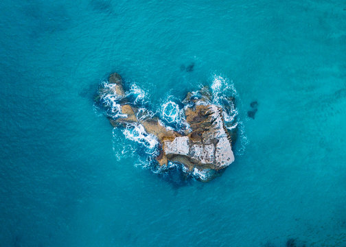Cathedral Cove from above in New Zealand