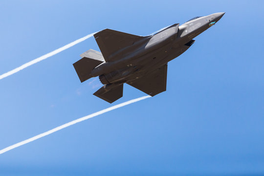 F-35A stealth fighter captured in July 2018 at the Royal International Air Tattoo in Gloucestershire, England