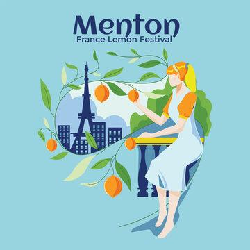 France Lemon Festival or Fete du Citron in Menton on French Riviera