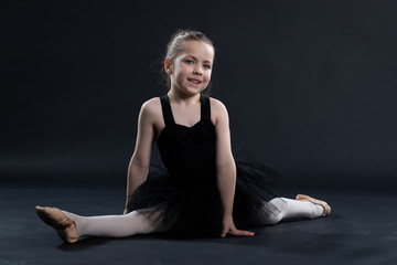 Portrait of young girl in dance outfit