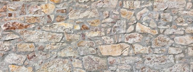 Rustic castle wall