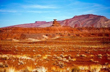 Canvas Prints Cuban Red Mexican Hat, Monument Valley, Utah
