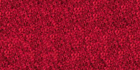 Foto op Canvas Roses A tiled pattern background of roses