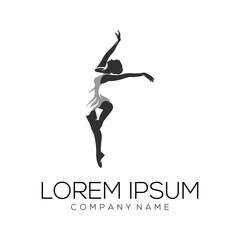 dancer logo design vector abstract