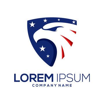 american eagle logo design vector abstract