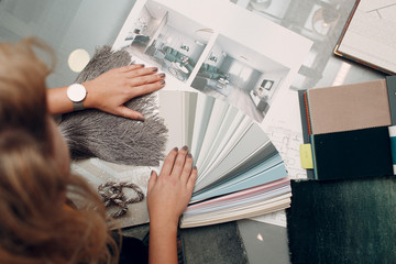 Interior design concept. Designer and project.