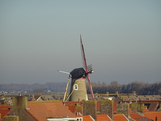 Deurstickers Turkije Windmühle