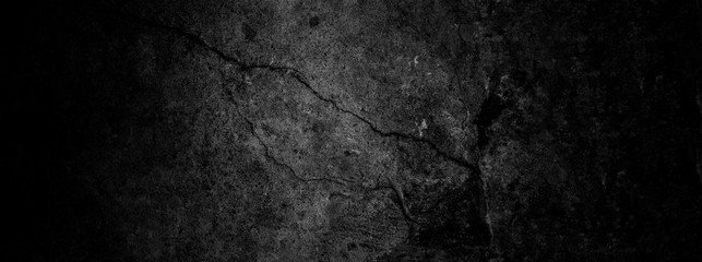 Old wall texture cement dark black gray  background abstract grey color design are light with white gradient background. Papier Peint