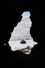 Photo sur Aluminium Amérique du Sud The window of the cave. Beautiful view from the cave