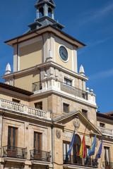 City Hall Tower in Oviedo; Asturias