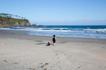 Woman and Dog, Barayo Beach; Asturias