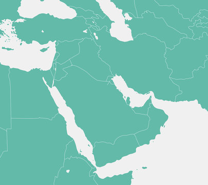Middle east , Arabian countries map / No text