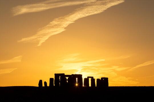 Summer Solstice Sunset at Stonehenge, UK