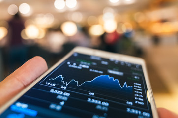 using a mobile device to check market data