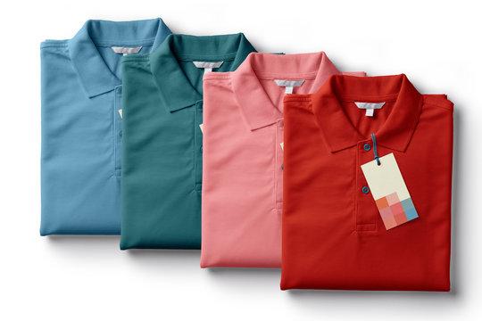colorful men polo shirt template