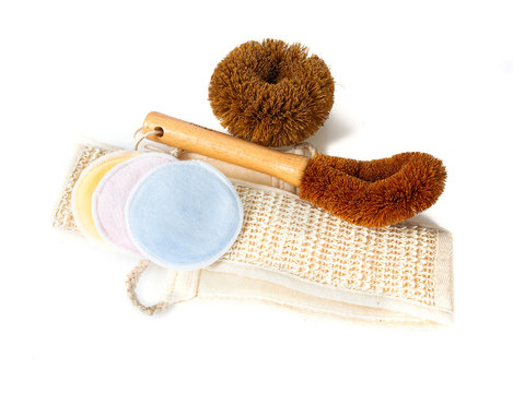 zero waste scourers,brushes, make up removers