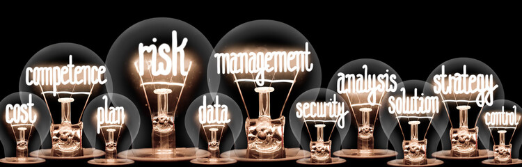 Light Bulbs with Risk Management Concept