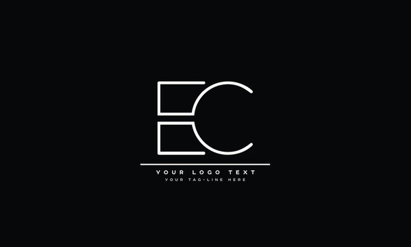 EC ,CE ,C ,E  Letter Logo Design with Creative Modern Trendy Typography