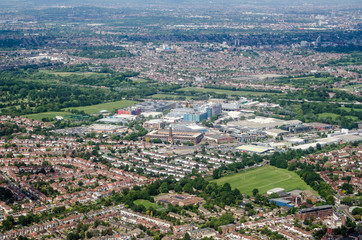 Osterley and Brentford aerial view - West London